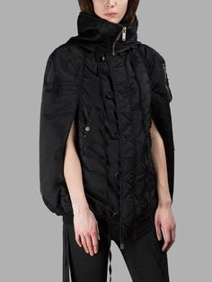 BEN TAVERNITI UNRAVEL PROJECT BEN TAVERNITI UNRAVEL PROJECT WOMEN'S BLACK HOODED JACKET. #bentavernitiunravelproject #cloth #jackets