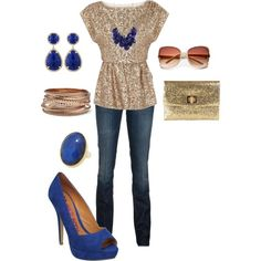 Date Night, created by #robinliz87 on #polyvore. #fashion #style Alice + Olivia 7 For All Mankind