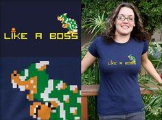 Like A Boss - gamer shirt at TShirt Laundry