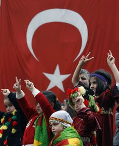 Ankara, Turkey: Kurdish children celebrate