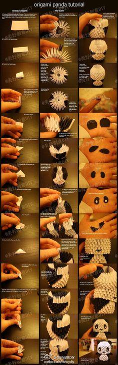 origami panda tutorial