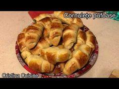 (135) CORNULEȚE PUFOASE CU RAHAT! (35)   Pas cu pas pentru toată lumea! - YouTube Deserts, Youtube, Food, Essen, Postres, Meals, Dessert, Youtubers, Yemek