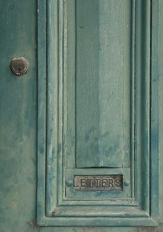 Beautiful old door with letter box