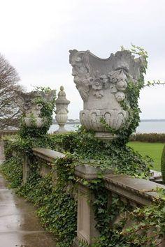 Garden wall by the sea