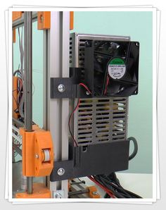 Držák napíjecího zdroje pro 3D tiskárnu Rebel 2. Power supply holder for 3D printer Rebel 2.