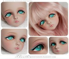 sailorchiron:  Leekeworld-Mikhalia-for-Yajaira by Xhanthi on Flickr.  Over the last few months Ive been watching Xhanthi improving and shes getting so phenomenal now. Ive told her before, but Im-a say it again - this is such an amazing faceup. Its that touch of green eyeliner that pulls it all together just perfectly. Ill do anything to send my next doll to her! SO GOOD.