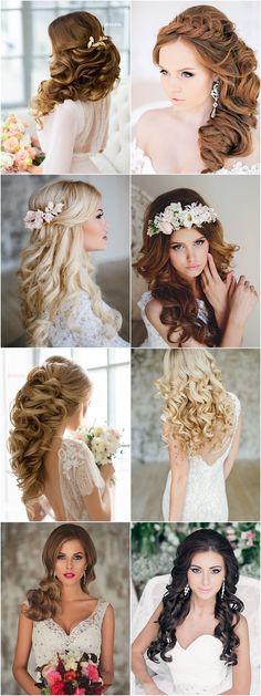 long wedding hairstyle idea; via Elstile