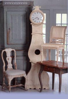 Scandinavische interieurs Zweedse-Gustaviaanse stijl