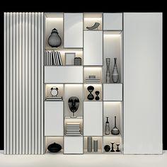 House Shelves, Living Room Shelves, Modern Bookcase, Modern Shelving, Wall Shelves Design, Bookshelf Design, Home Room Design, Living Room Designs, Wardrobe Interior Design