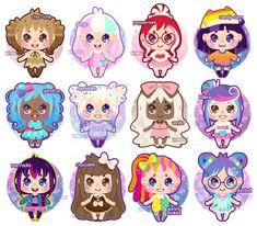Candy Girl Adoptables [6 open!] by Miss-Glitter.deviantart.com on @deviantART