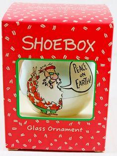 Shoebox Hallmark Christmas Tree Ornament Peace on Earth Hippy Santa Claus Beach