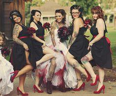 Mr & Mrs Tattooboy's Heavily Tattooed, Ass Kickin' Rockabilly Wedding · Wedding · Rock n Roll Bride