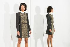 Paul Carroll F/W 2015 Collection Aggie Jacket & Skirt  Hand - Embroidered