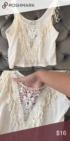 Fringe top S Brand new with tags. 💯 % cotton. Forever 21 Tops Tank Tops