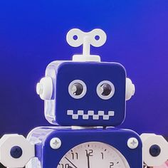 Blue Tin Toy Robot Clock. Find the latest News on robots drones AI robotic toys and gadgets at robots-blog.com. If you want to see your product featured on our Blog Instagram Facebook Twitter or our other sites contact us. #robots #robot #omgrobots #roboter #robotic #mycollection #collector #robotsblog #collection #botsofinstagram #bot #robotics #robotik #gadget #gadgets #toy #toys #drone #robotsofinstagram #instabots #photooftheday #picoftheday #followforfollow #instadaily #blue #clock #tinto Tin Toys, Drones, Gadgets, Clock, Facebook, News, Twitter, Blue, Collection