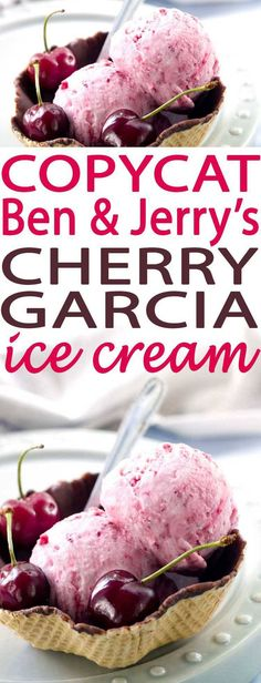 Make homemade ice cream recipes at home with ice cream makers. This Copycat Ben & Jerry's Cherry Garcia Ice Cream is out of this world delicious. Make it at home and its ready in no time at all.