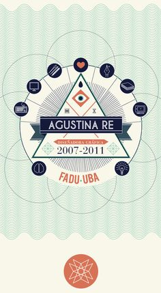 Typography and Layering of Lines creating Textures and Dimension // Agustine Re