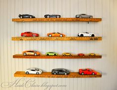 1 24 1 25 diecast and model car display case shelf will hold up rh pinterest com model car shelf ideas Scale Model Car Shelves