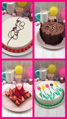 Cake Decorating Videos, Cake Decorating Techniques, Creative Cakes, Creative Food, Chocolate Birthday Cake Decoration, Just Desserts, Dessert Recipes, Food Carving, Specialty Cakes