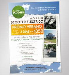 The Green Scooter / Flyer Promo Verano / Print