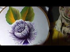 Pintura en tela crisantemo semanario # 5 con cony - YouTube