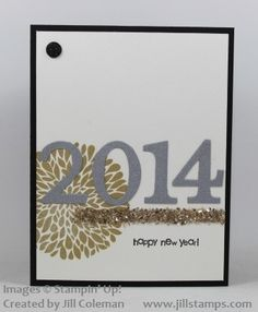 new years card with bling stampinup wwwjillstampscom new year card