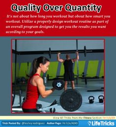 Fitness - Quality Over Quantity