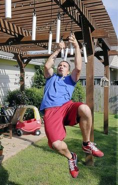 Inspiring 16 DIY American Ninja Warrior Backyard Obstacle Course https://mybabydoo.com/2018/03/24/16-diy-american-ninja-warrior-backyard-obstacle-course/ If you often watched the American Ninja Warrior Show, you might as well want to build the obstacles and try them by yourself. In this article, we will show you some of the best obstacle from the show.