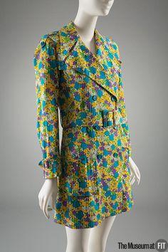 Yves Saint Laurent Rive Gauche Coat - France ca.1968. Cotton