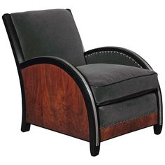 Amazing Art Deco Lounge Chair by Hastings, Modernage or Paul Frankl 1