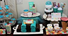 Sweet Spa Party- would be cute for baby shower too