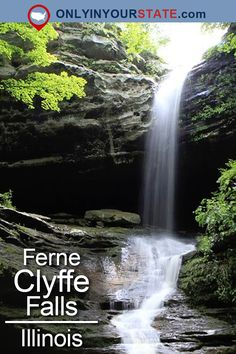 Ferne Clyffe Falls is said to be the most visited waterfall in Illinois, and for good reason! Hike behind the falls for a truly unique experience. Shawnee National Forest, Shawnee Park, Hiking Usa, Camping Activities, Weekend Activities, National Parks Usa, Mountain Photography, European Travel, Outdoor Travel