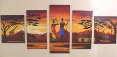 Resultado de imagen para cuadros de africanas con decoupage