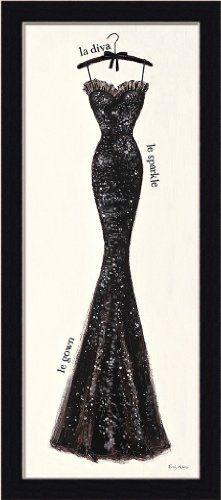 Couture Noir Original IV by Emily Adams French Black Dress 9.5x21.5 Framed Art Print Wall Decor Framed Art by Tilliams,http://www.amazon.com/dp/B00H1OZQRA/ref=cm_sw_r_pi_dp_73kktb09ZD45M005