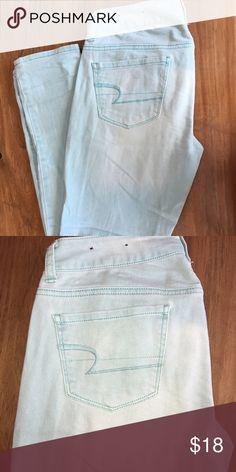 American Eagle Skinny Jeans Mint green American Eagle skinny jeans. Great condition barely worn. American Eagle Outfitters Jeans Skinny