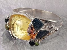 Gregory Pyra Piro #amber #bracelet 18 karat #gold one of a kind