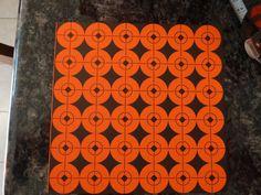 "1"" SHOOTING TARGETS STICKERS ORANGE AND BLACK SCOPE, TARGET REPAIR (36 labels) #BirchwoodCasey"