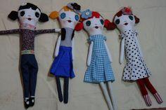 Batizei esse padrão de bonecas feitas por mim de Charlotte.