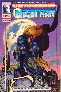 Malibu Comics Characters | The Night Man from the Malibu Ultraverse