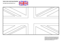 Union Jack colouring in template – Olympics / Team GB!