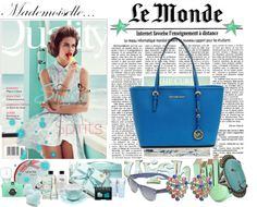 """""""Ocean Blue"""" by monnierfreres ❤ liked on Polyvore"""