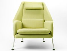 The Heron chair offers exceptional comfort with a balanced sculptural form. The chair is a contemporary of similar designs by Eames and Saarinen. Banquettes, Florence Knoll, Ludwig Mies Van Der Rohe, Contemporary Chairs, George Nelson, Mid Century Chair, Lounge Seating, Heron, Tub Chair