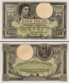 Banknoty polskie - Ilustrowany zbiór polskich banknotów Poland Culture, Money For Nothing, European History, My Heritage, Vintage World Maps, Coins, Things To Come, Stamp, Jfk