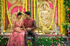 South indian wedding bride and groom