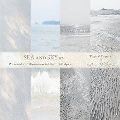Sea and Sky 12 Digital Textures by Renuko Style on @creativemarket