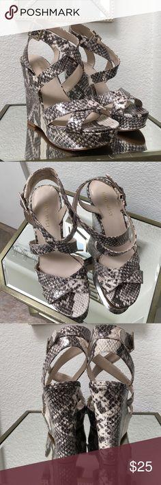 Nine West snake skin print sandal Size 5.5 Used once. Nine West snake print sandals size 5.5 Nine West Shoes Wedges