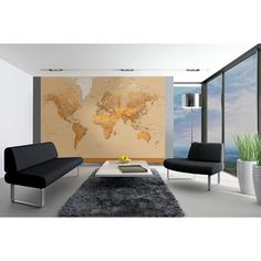00153 The World – Wall Mural  366 x 254 cm