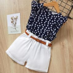 nice Kids Girls Clothing Sets Summer New Style Brand Baby Girls Clothes short Sleeve T-Shirt+Pant Dress Children Clothes Suits Girls Summer Outfits, Baby Outfits, Short Outfits, Casual Outfits, Casual Clothes, Cute Clothes For Kids, Baby Girl Clothes Summer, Formal Outfits, Rock Outfits