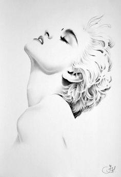 Madonna Minimal Portrait by IleanaHunter.deviantart.com on @DeviantArt