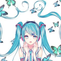 Image shared by 「Sushi」. Find images and videos about vocaloid, miku and hatsune on We Heart It - the app to get lost in what you love. Vocaloid, Hatsune Miku Outfits, Kaito, Haku, Avatar, Miku Chan, Nisekoi, Very Beautiful Images, Female Anime